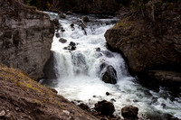 Firehole Falls on the Firehole River - taken in the fall time - Yellowstone National Park